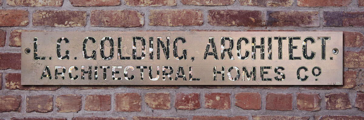 Leonard Golding Architect - Original Name Plate