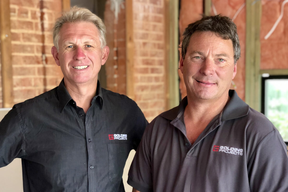 Thank you Terry and David - Golding Projects Adelaide Builder